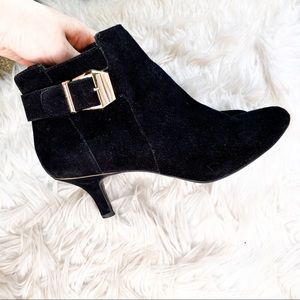 Anne Klein Black Kitten Heel Booties